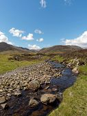 River Calder, Glen Banchor, Scotland West Highlands In Spring