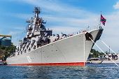 Russian Guided Missile Cruiser Moskva