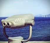 Tourist Binoculars For Exploring The Seaside