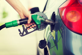 stock photo of fuel pump  - transportation and ownership concept  - JPG