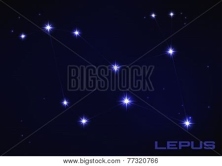 Постер, плакат: illustration of Lepus constellation, холст на подрамнике