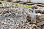 Plastic Bag And Rail Way