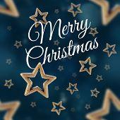 Merry Christmas On The Night Stars Seamless Pattern 2