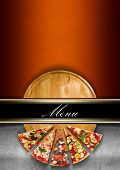Постер, плакат: Pizza Menu Design