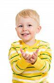 kid boy reaches his hands