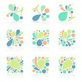 Pastel color icon set, vector eps10 format