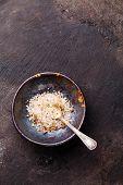 Food Coarse Sundried Tomato Salt On Dark Background