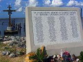 stock photo of katrina  - St Bernard Parish Memorial to the victims of Katrina - JPG