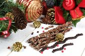 Frech Milk Chocolate In The New Year Decor