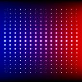 Red, blue and purple shining disco equalizer lights
