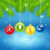 Christmas Tree Background With 2015