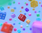 Multicolor dice
