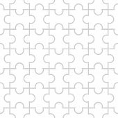 Seamless Puzzle Pattern On White Background