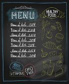 Chalkboard healthy food menu