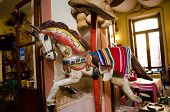 stock photo of carousel horse  - A colorful carousel horse with mexican ornament - JPG