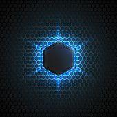 Abstract 3D Vector Dark Background
