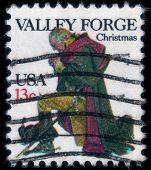 Valley Forge Prayer. Christmas Postage Stamp