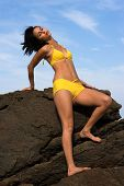 Girl in Yelow Bikini