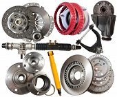 stock photo of friction  - Set of automotive parts - JPG