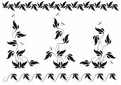 floral pattern and dragonflies