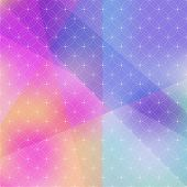 Abstract background of color patches with geometric texture.