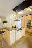 Kitchen Island In Luxury Apartment