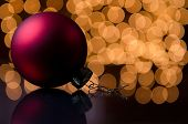Red ornament with lights