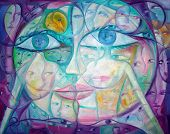 Surreal Cubist Eyes And Faces