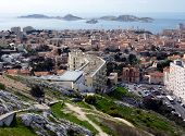 View Of Marseilles And Frioul Islands, France