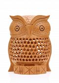 Wooden carved owl