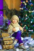 The Girl Near A Christmas Fir-tree 2