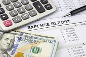 Expense Report With Money For Payment