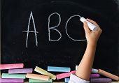 Hand Of Child Writing