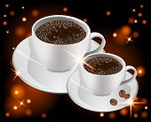 Cup Of Coffee On A Glowing Background
