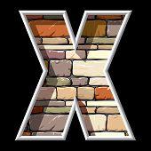 stone letter X