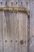 Old wooden door and lock