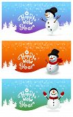 Happy New Year With Snowman