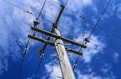 pic of power transmission lines  - New Zealand - JPG