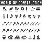 stock photo of skid-steer  - vector construction icons on white background with shadow - JPG