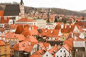 picture of red roof  - the red roofs of the old town and streets - JPG
