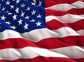image of glory  - 3d illustration of american old glory flag - JPG