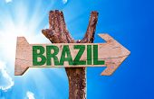foto of carnival brazil  - Brazil wooden sign with sky background - JPG