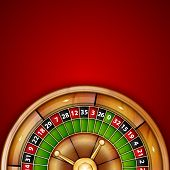 stock photo of roulette table  - Background with roulette - JPG