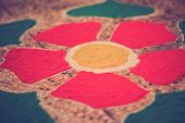 pic of rangoli  - rangoli handiwork design using coloured stone powder