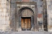 picture of armenia  - Ornamental gate of ancient Geghard monastery - JPG