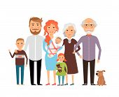 foto of grandmother  - Big happy family - JPG