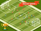 picture of competition  - Soccer game - JPG