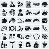 Постер, плакат: Food And Cooking Icons Vector Set