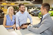 stock photo of rental agreement  - auto business - JPG