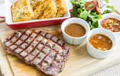 stock photo of rib eye steak  - australian wagyu rib - JPG